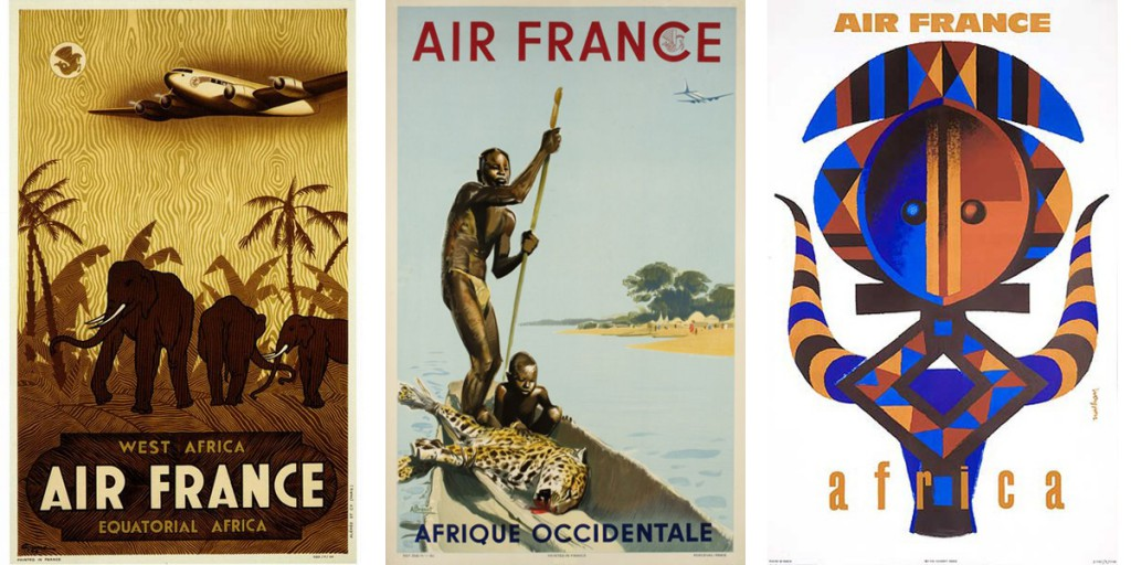 Carteles Air France Subsahariana